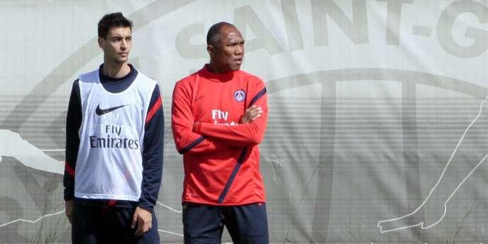 Javier Pastore et Antoine Kombouaré.
