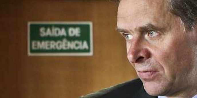 Poul Thomsen, directeur du FMI pour l'Europe, lors de la conférence de presse sur le plan d'aide financière pour le Portugal, 12 août 2011.