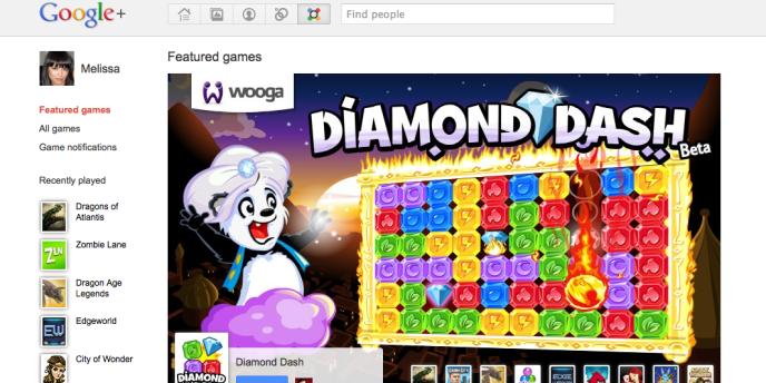 La page de Google + dédiée aux jeux.