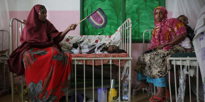 Au service pédiatrique du Banadir Hospital de Mogadiscio, le 10 août.