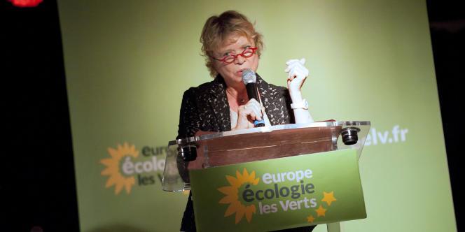 Eva Joly, le 21 mai 2011 à Paris, lors des Etats généraux du nucléaire.