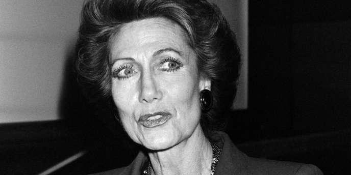 Hélène Rochas en 1986 à Paris.