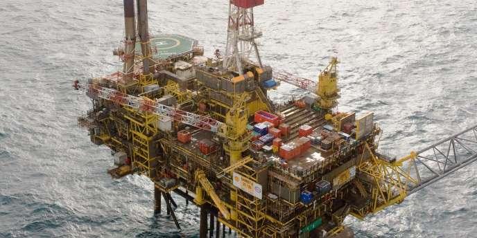 La plate-forme pétrolière de Shell Gannet Alpha, en mer du Nord.