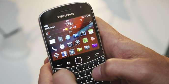 Un terminal BlackBerry.