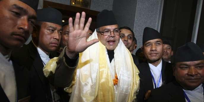 Jhalanath Khanal, le premier ministre du Népal, en février.