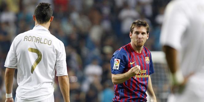 Lionel Messi aux côtés de Ronaldo, le 14 août à Madrid.