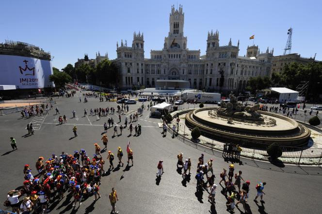 La place Cibeles à Madrid, le 16 août 2011.
