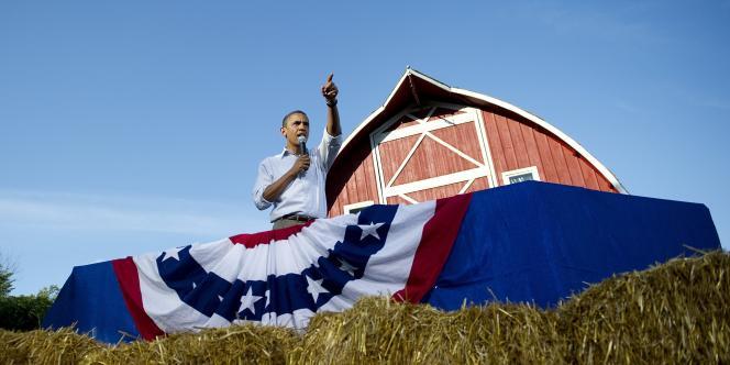 Obama dans l'Iowa. Le 15 août 2011.