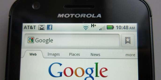 Un terminal Motorola utilisant le système d'exploitation Android de Google.