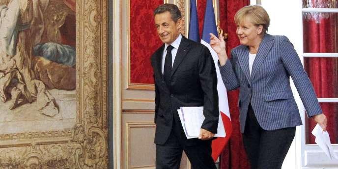 Nicolas Sarkozy et Angela Merkel, mardi 16 août à l'Elysée.