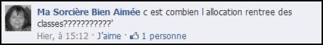 Commentaire Facebook.