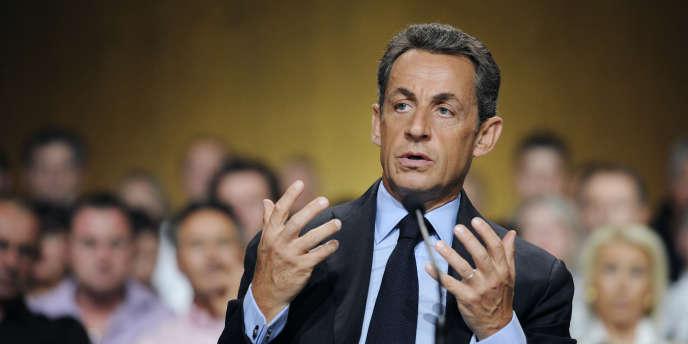 Nicolas Sarkozy, mercredi 28 juillet, à Beaume-de-Venise.