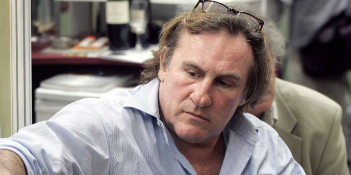 Gérard Depardieu, au salon Vinexpo de Bordeaux en 2005.