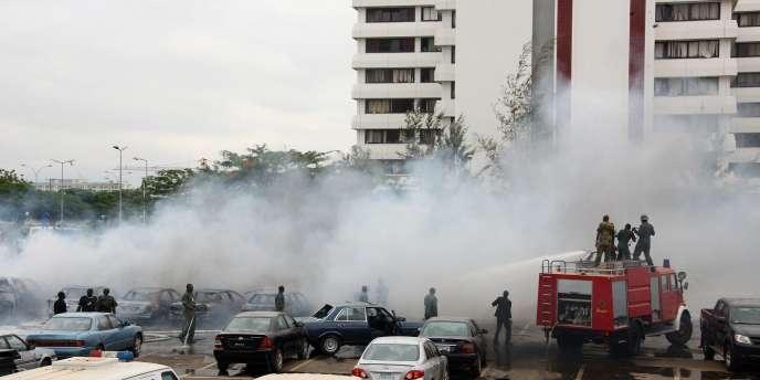 Le siège de l'ONU à Abuja après l'attaque dont il a fait l'objet, vendredi 26 août.