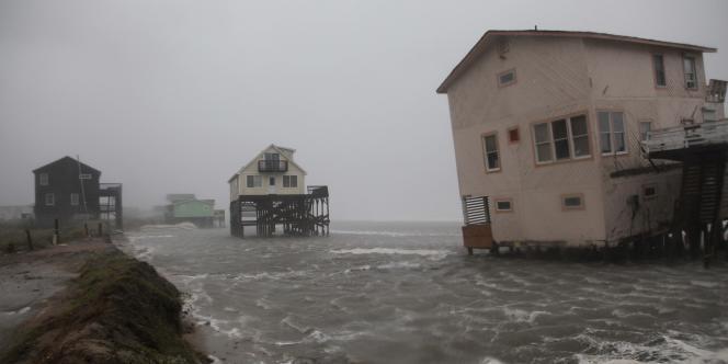 La Caroline du Nord a été le premier Etat des Etats-Unis à être touché par l'ouragan Irène, le 27 août.