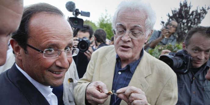 François Hollande et Lionel Jospin le 25 août à La Rochelle.