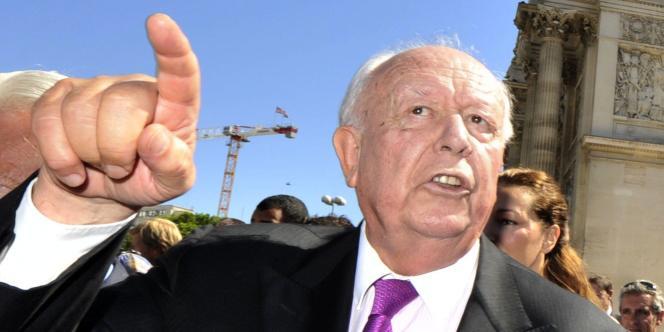 Le maire de Marseille, Jean-Claude Gaudin, lundi 29 août.