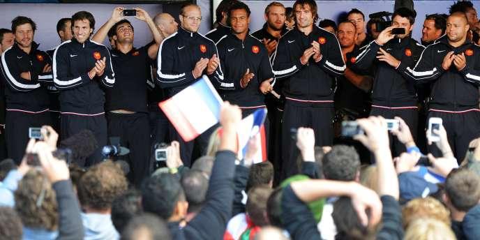 Le XV de France est arrivé à bon port pour disputer la Coupe du monde de rugby.