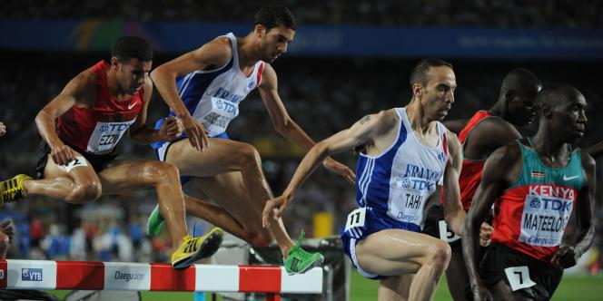 Jeudi, Bob Tahri a terminé quatrième du 3 000 m steeple des Mondiaux 2011.