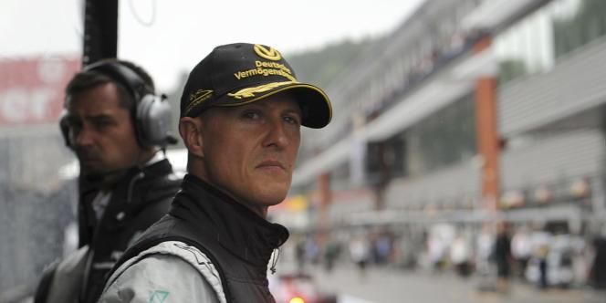 Michael Schumacher, le 27 août, à Spa.