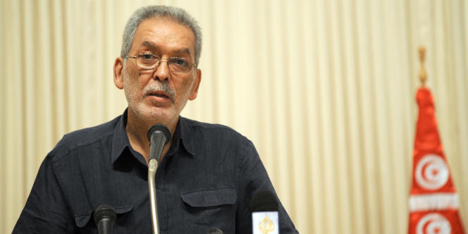Le président de l'Instance supérieure indépendante pour les élections (ISIE), Kamel Jendoubi, à Tunis, le 6 août 2011.