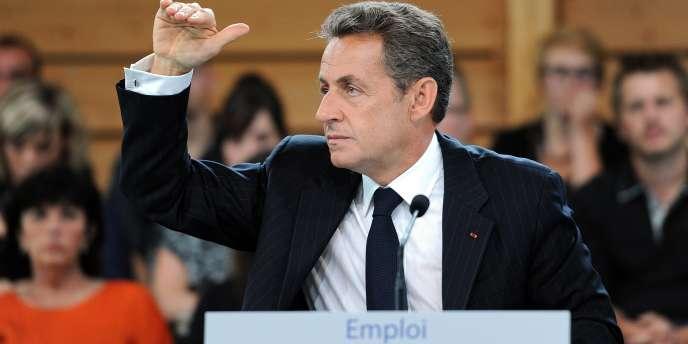 Nicolas Sarkozy, le 2 septembre, à Sainte-Marguerite, dans les Vosges.