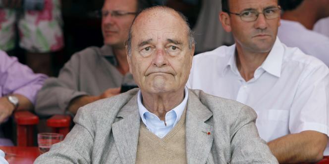 L'ancien président de la République le 14 août à Saint-Tropez.