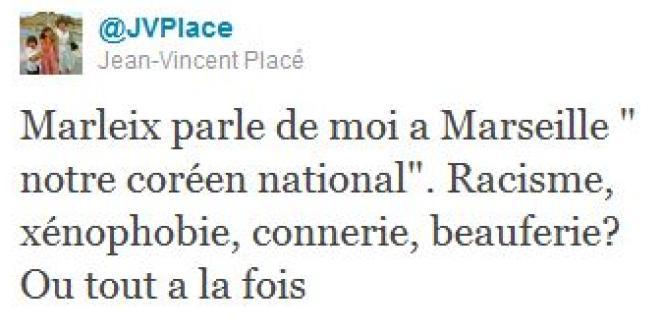 Un tweet de Jean-Vincent Placé.
