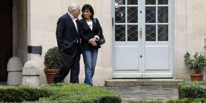 Dominique Strauss-Kahn et Anne Sinclair, à Paris, le 4 septembre 2011.