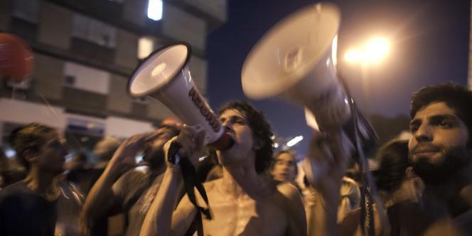 Manifestants à Tel-Aviv, le 3 septembre 2011.