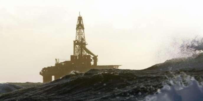 Plateforme pétrolière en mer de Norvège