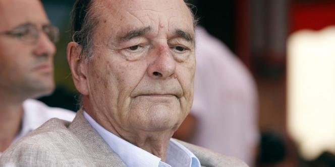 Jacques Chirac, le 14 août 2011, à Saint-Tropez.