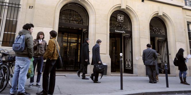 L'entrée de Sciences Po à Paris, en janvier 2009.