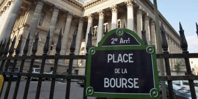 Le Palais Brongniart, place de la Bourse, à Paris.