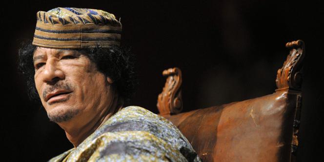 Le colonel Khadafi à Rome, le 12 juin 2009.