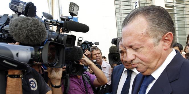 Jean-Noël Guérini à son arrivée au tribunal à Marseille, jeudi 8 septembre.