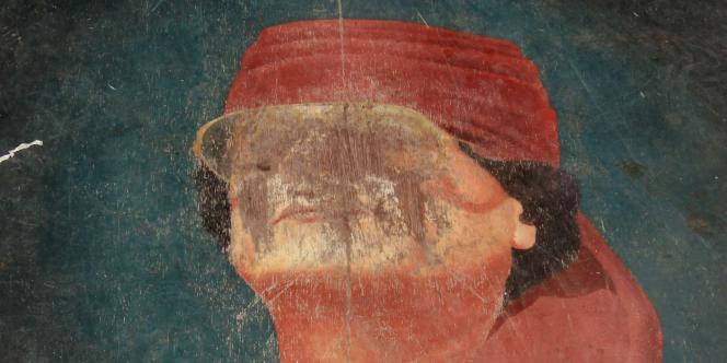 Portrait représentant Kadhafi, à Tripoli, le 10 septembre 2011.