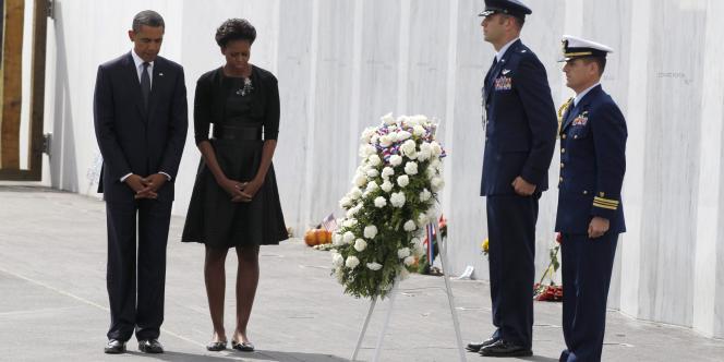 Barack Obama et son épouse Michelle se recueillent à Shanksville, lors des cérémonies du dixième anniversaire du 11-Septembre.