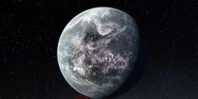 Vue d'artiste d'une des 50 exoplanètes découvertes par l'Observatoire austral européen (ESO).