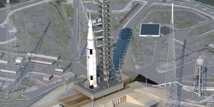 Dessin du futur éSpace launch system