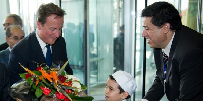 David Cameron à l'hôtel Corinthia de Tripoli, jeudi 15 septembre.