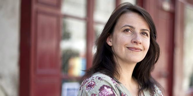 Cécile Duflot, secrétaire nationale du parti Europe Ecologie-Les Verts, à Dijon en avril 2011.