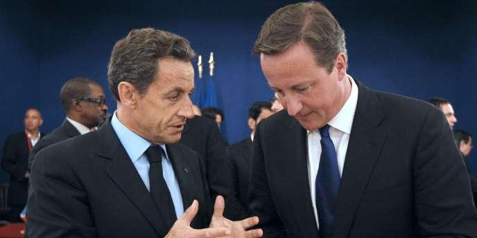 Nicolas Sarkozy et David Cameron, à Paris, le 1er septembre 2011.