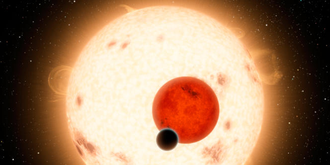Vue d'artiste de la planète Kepler-16b, située à environ 200 années-lumières de la Terre.