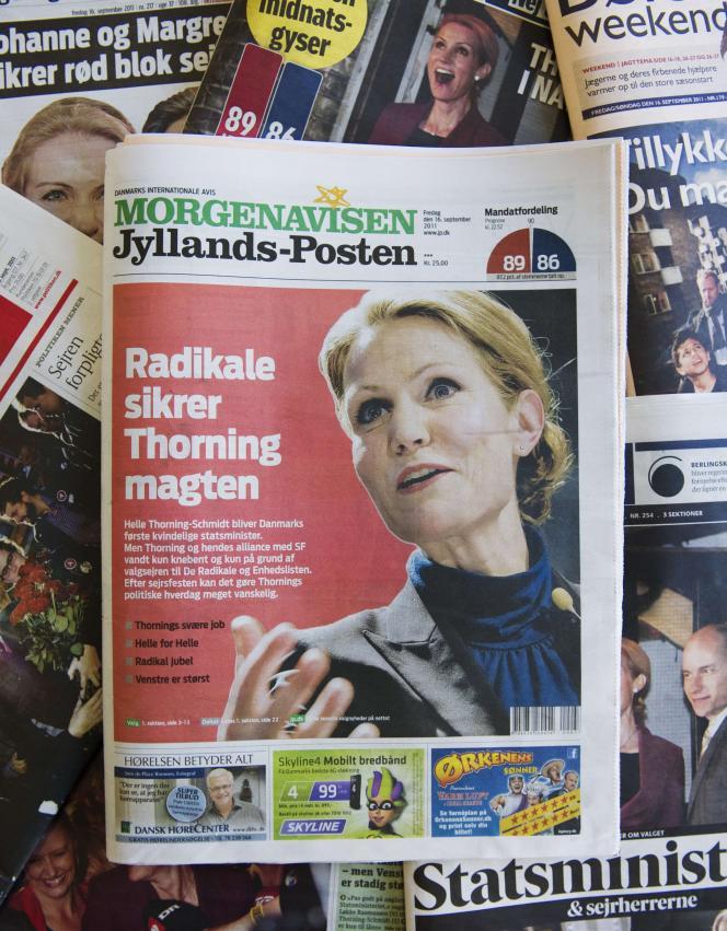 Les unes des quotidiens danois, vendredi 16 septembre.