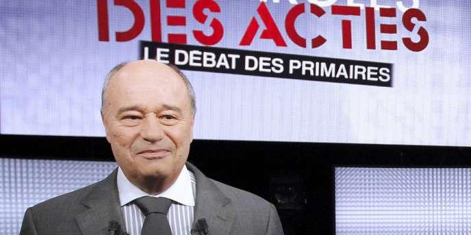 Jean-Michel Baylet lors du débat entre les candidats de la primaire de la gauche, le 15 septembre 2011.
