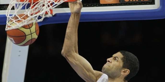 Nicolas Batum, le 15 septembre pendant les championnats d'Europe de basket.