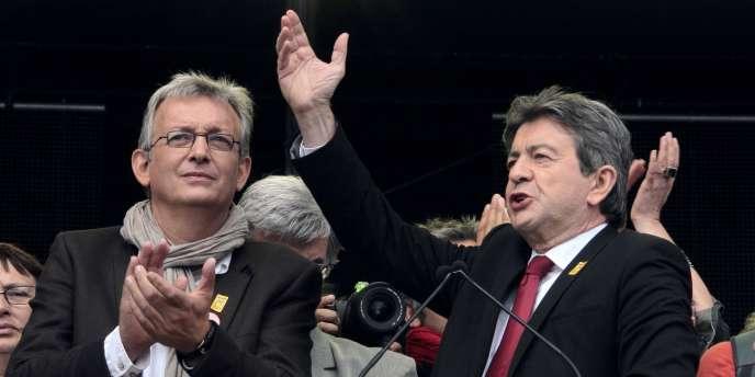 Pierre Laurent et Jean-Luc Mélenchon, le 18 septembre 2011, à la Fête de