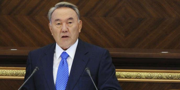 Le président du Kazakhstan, Noursoultan Nazarbaïev, à Astana en septembre 2011.