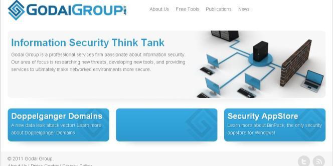 Capture d'écran du site du Godai Group.